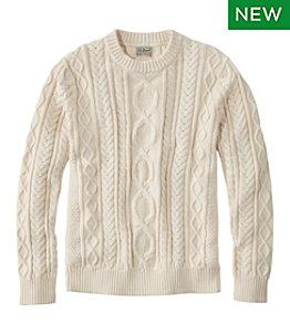 Men's Bean's Heritage Soft Cotton Fisherman Sweater, Crewneck