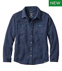 Men's Bean's Sweater Fleece Shirt Jac