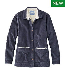 Women's Comfort Corduroy Relaxed Shirt, Lined
