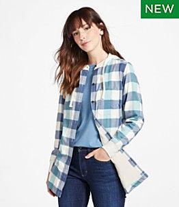 Women's BeanFlex All-Season Flannel Shirt, Lined Hoodie