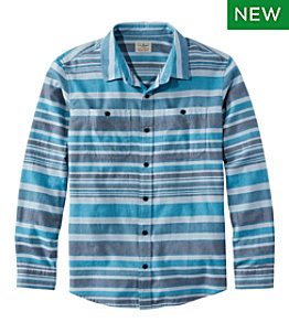 Men's Wicked Soft Flannel Shirt, Stripe, Slightly Fitted Untucked Fit