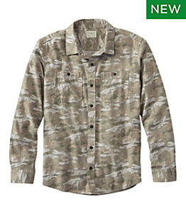 Men's Wicked Soft Flannel Shirt, Print, Slightly Fitted Untucked Fit