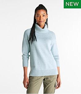 Women's Super-Soft Waffle Sweater, Turtleneck