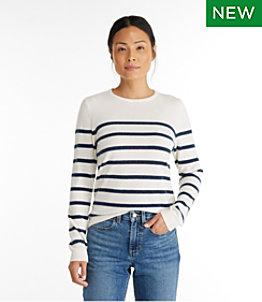 Women's Classic Cashmere Sweater, Crewneck Stripe