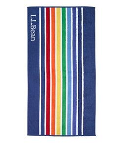 Seaside Beach Towel, Rainbow Stripe