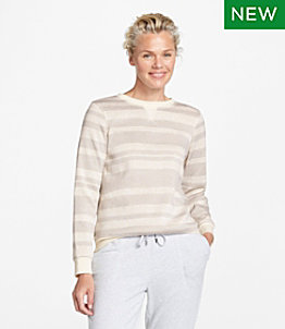 Women's Lightweight Sweater Fleece Top, Stripe