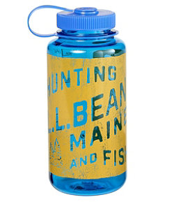 Nalgene Sustain Wide Mouth Water Bottle with L.L.Bean Print, 32 oz.