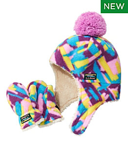 Toddlers' Mountain Classic Fleece Hat and Mitten Set, Print
