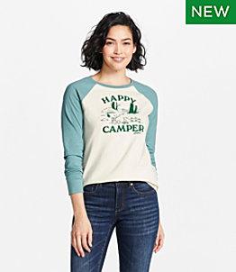 Women's L.L.Bean x Peanuts Raglan Long-Sleeve T-Shirt