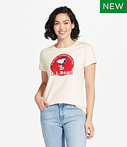 Women's L.L.Bean x Peanuts Short-Sleeve T-Shirt