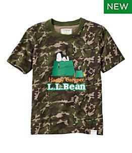 Kids' L.L.Bean x Peanuts Short-Sleeve Tee Print