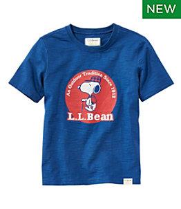 Kids' L.L.Bean x Peanuts Short-Sleeve Tee