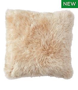 """Sheepskin Throw Pillow, 20"""" x 20"""""""