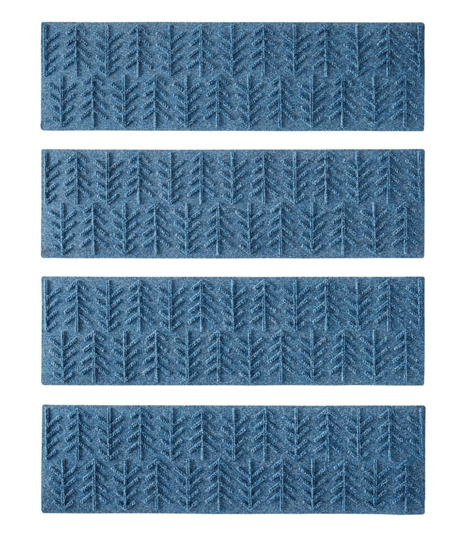 Everyspace Recycled Waterhog Mat, Stair Treads, Set of Four, Trees