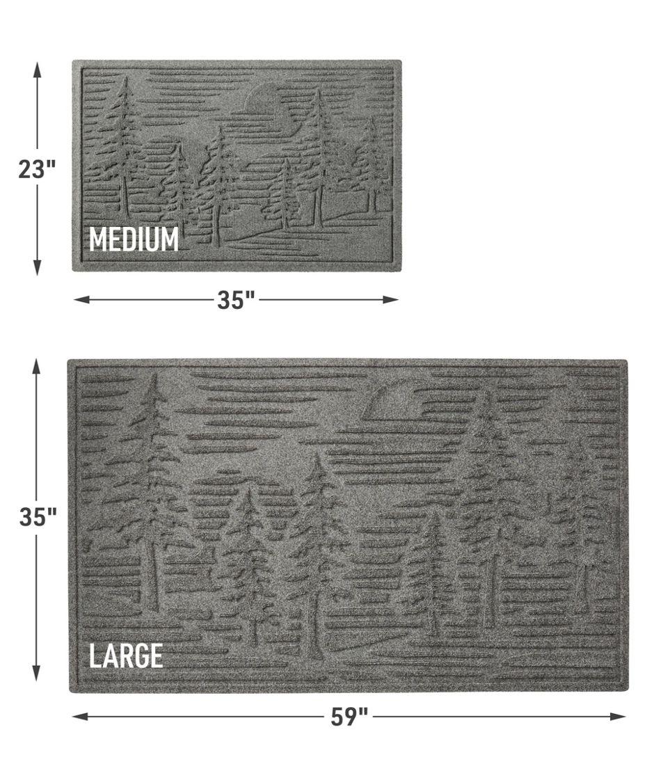 Everyspace Recycled Waterhog Doormat, Pine Trees