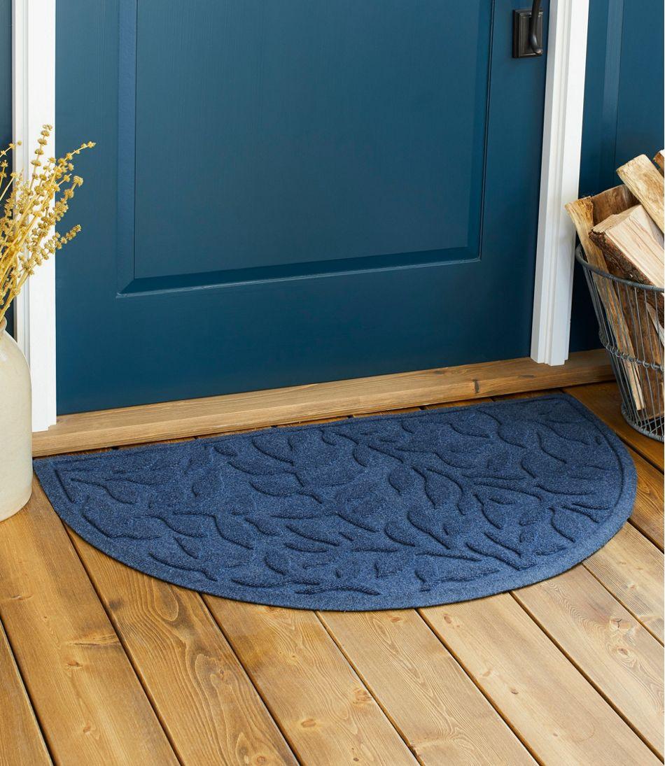 Heavyweight Recycled Waterhog Doormat, Crescent, Woodland Leaf