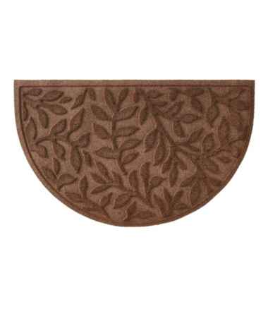 Heavyweight Recycled Waterhog Doormat, Crescent, Woodland Leaf