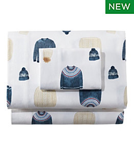 Sara Fitz™ Sweater Print Flannel Sheet Collection