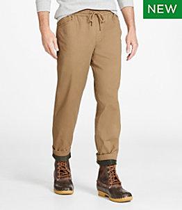 Men's BeanFlex Canvas Pull-On Pants, Lined, Standard Fit