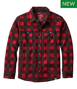 Men's Bean's Sweater Fleece Shirt Jac, Print