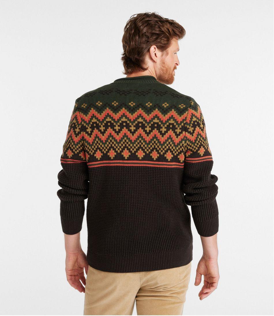 Men's L.L.Bean Organic Cotton Sweater, Crewneck, Fair Isle