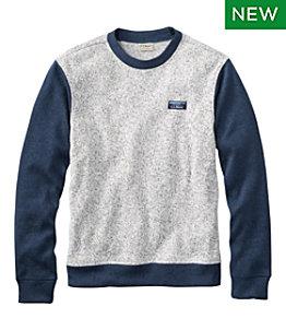 Men's Lightweight Sweater Fleece Top, Long-Sleeve, Colorblock