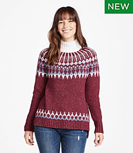 Women's Signature Cozy Sweater, Raglan Fair Isle