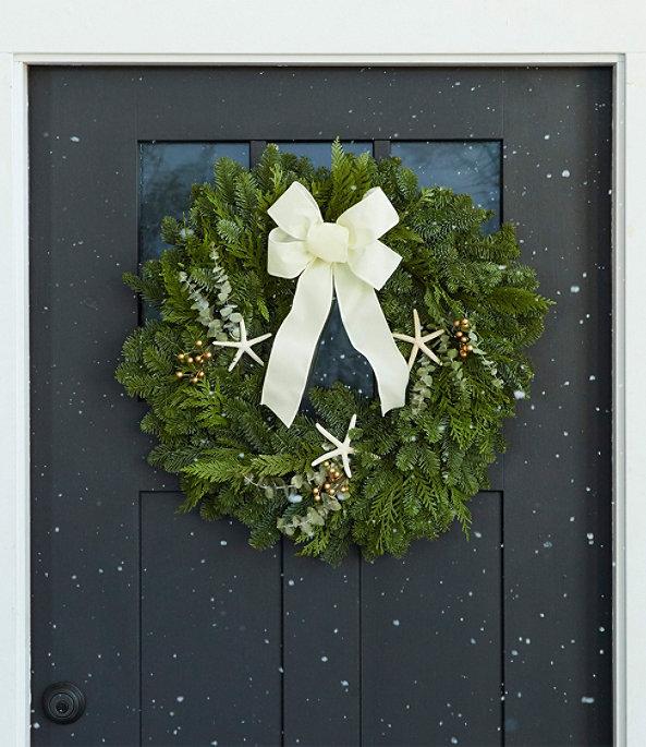 "Coastal Evergreen Wreath 24"", One Color, large image number 0"
