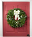 """Coastal Evergreen Wreath 24"""", One Color, small image number 1"""