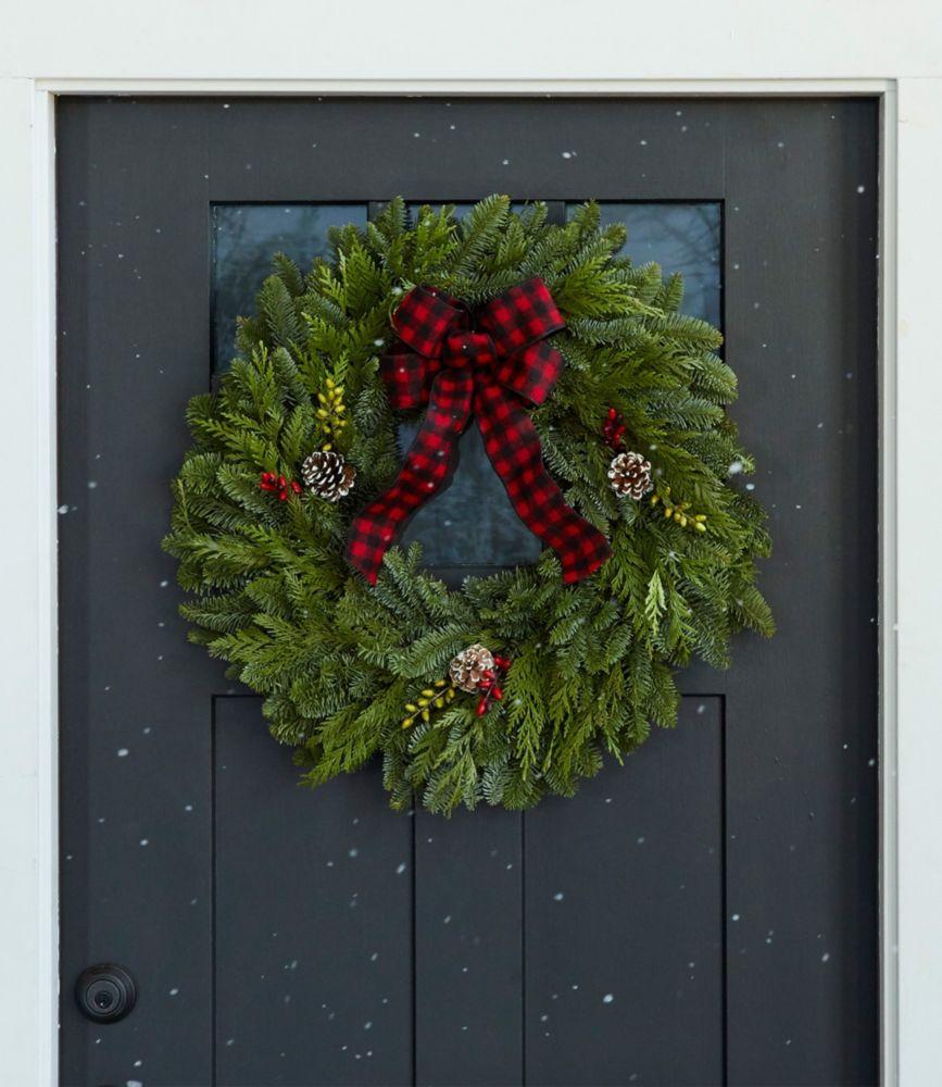 "NEW Buffalo Plaid Wreath 24"""