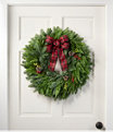 """NEW Buffalo Plaid Wreath 24"""", One Color, small image number 0"""