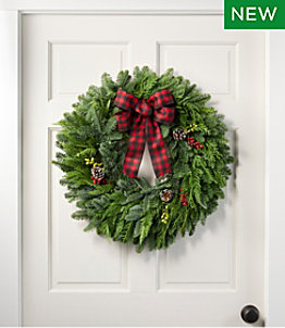 """Buffalo Plaid Wreath, 24"""""""