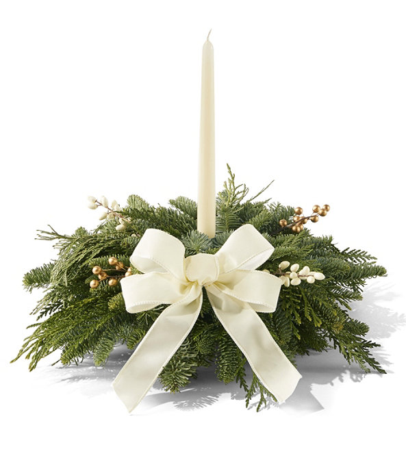 Winter White Centerpiece, Small, One Color, large image number 0