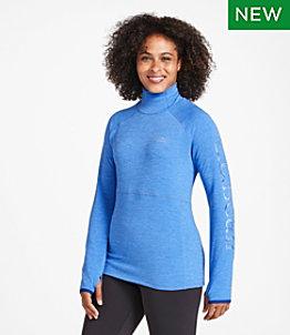 Women's Adventure Grid Fleece Turtleneck, Logo