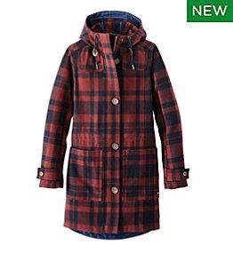 Women's Bean's West End Wool Coat, Pattern