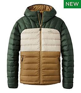 Men's Bean's Down Hooded Jacket, Colorblock