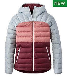 Women's Bean's Down Hooded Jacket, Colorblock
