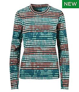 Women's L.L.Bean Fleece Base Layer, Long-Sleeve Print