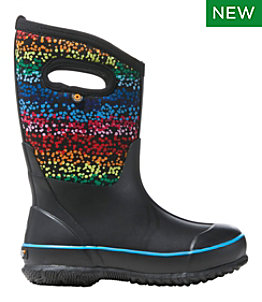 Kids' Bogs Classic Rainbow Dots Boots