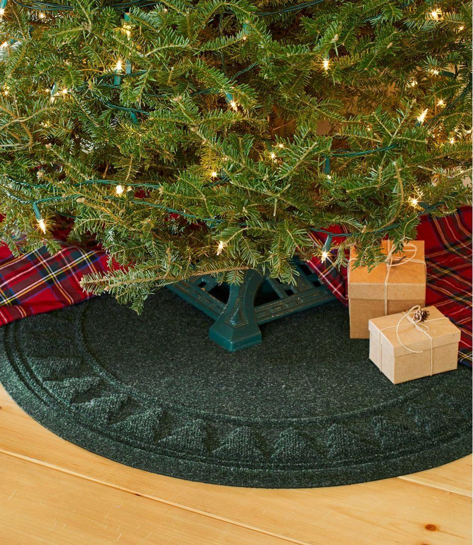 Recycled Waterhog Holiday Tree Mat, Trees