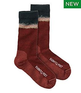 Adults' Farm to Feet Missoula Crew Socks, Light Cushion