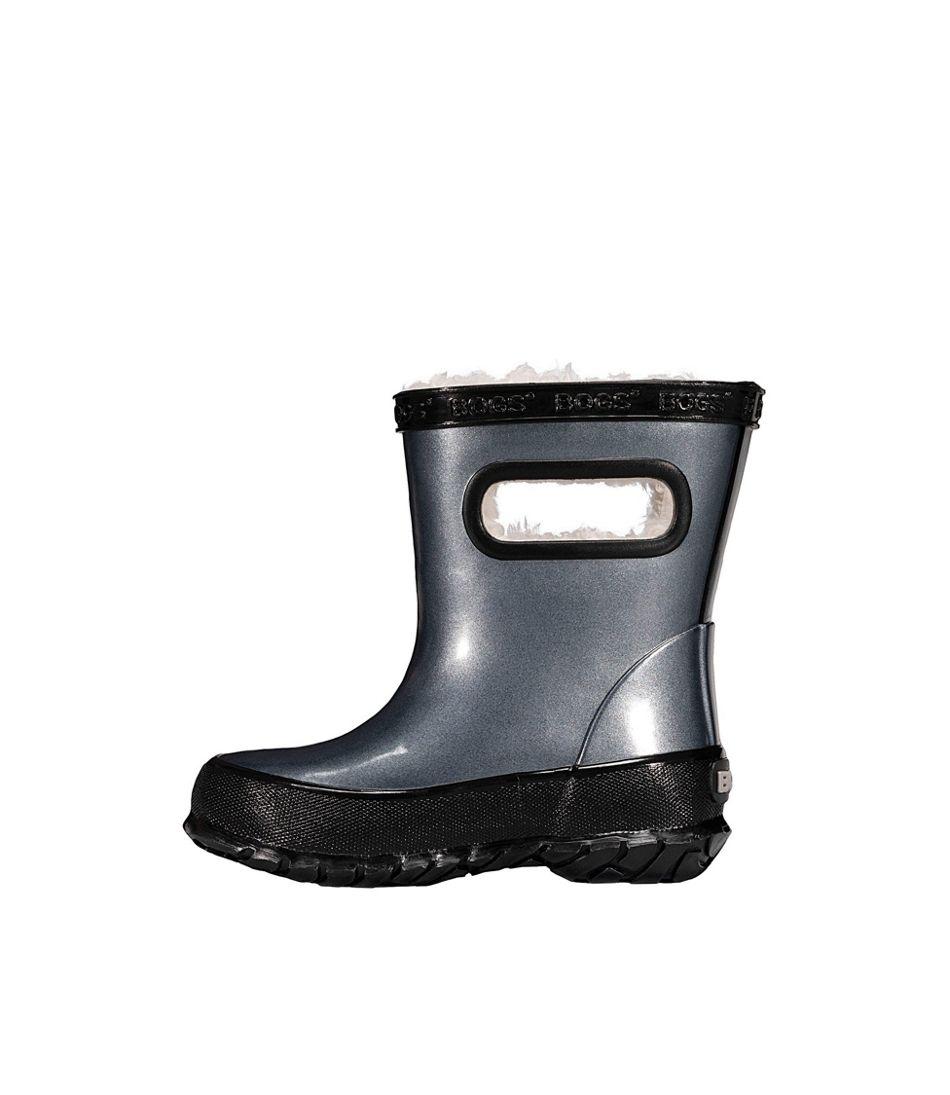 Toddlers' Bogs Skipper Rain Boot, Metallic Fleece-Lined