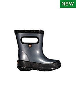 Toddlers' Bogs Skipper Rain Boot, Metallic Fleece-Lined