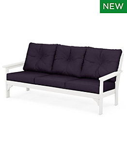 All-Weather Patio Sofa with Textured Cushions