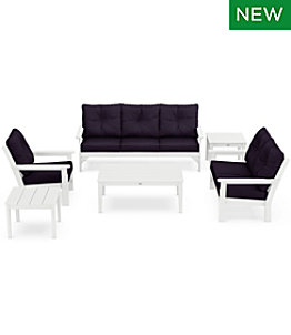 All-Weather 6-Piece Patio Set with Textured Cushions