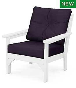 All-Weather Patio Chair with Textured Cushion