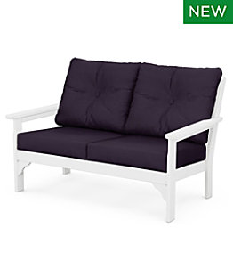 All-Weather Patio Settee with Textured Cushion