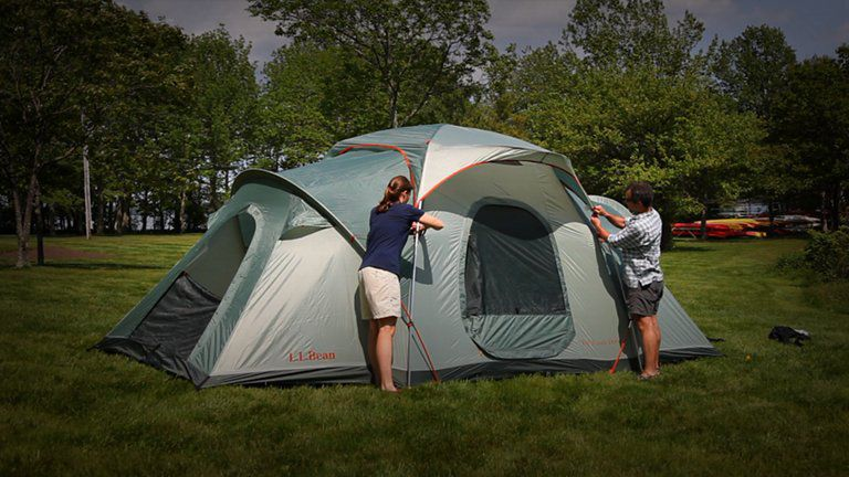 Videos from l l bean how to set up your big woods dome tent for Wood tents